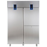 Холодильный шкаф для рыбы с двумя агрегатами, 1430 л (R290), 1 сплошная дверь, 2 вертикальные секции, -2° +10°C / -6° -2°C, цифровой дисплей, н/сталь AISI 304