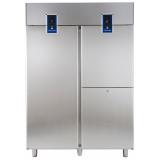 Холодильный шкаф с двумя агрегатами, 1430 л (R290), 1 сплошная дверь, 2 вертикальные секции, -2° +10°C / -22° -2°C, цифровой дисплей, н/сталь AISI 304