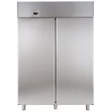 2-дверный морозильный шкаф, 1430 л, -22°C / -15°C, цифровой дисплей, для работы с выносным агрегатом, н/сталь AISI 304