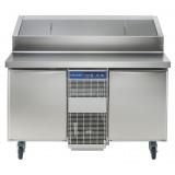 2-дверный холод.стол 290 л, -2°С+10°C, н/сталь AISI 304, саладетта с приподнятым держателем для контейнеров (на колесах)
