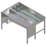 Автоматический сортировочный стол, 3 корзины, л>п, 1620 мм