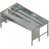 Автоматический сортировочный стол, 4 корзины, л>п, 2130 мм
