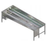 Автоматический сортировочный стол, 6 корзин, л>п, 3150 мм