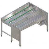 Автоматический сортировочный стол, 3 корзины, п>л, 1620 мм