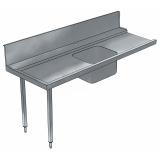 Стол предварительной мойки с ванной 500х400 мм к капотным п/м машинам, л>п, 1800 мм