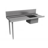 Стол предварительной мойки с ванной 500х400 мм и сушкой к капотным п/м машинам, л>п, 1800 мм