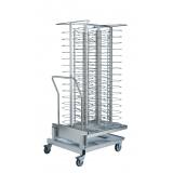 Банкетная структура на тележке на 116 тарелок для SKYLINE 20 GN 2/1 - шаг между уровнями 66мм
