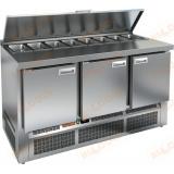 SLE1-111GN стол холодильный для салатов (саладетта)