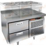 GN 2/TN LT стол холодильный под тепловое оборудование
