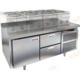 GN 12/TN LT стол холодильный под тепловое оборудование