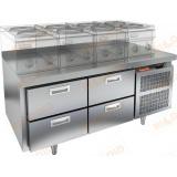 GN 22/TN LT стол холодильный под тепловое оборудование