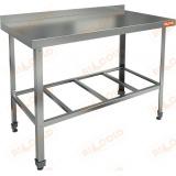 НСО-11/6Б ЭЦ стол пристенный с полкой решеткой