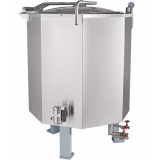 Котел пищеварочный паровой Abat КПЭМ-400П: работа от внешнего парогенератора
