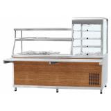 """Прилавок-витрина холодильный ПВХМ-70КМУ (цвет """"дуб"""", витрина справа)"""