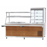 """Прилавок-витрина холодильный ПВХМ-70КМУ (цвет """"дуб"""", витрина слева)"""