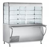 Прилавок-витрина холодильный ПВВ(Н)-70М-С-НШ (саладетта закрытая, с г/е)