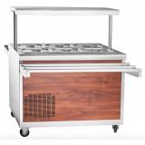 Прилавок холодильный Abat ПВВ(Н)-70ПМ-НШ (дуб) (21000000457)