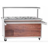 Прилавок холодильный Abat ПВВ(Н)-70ПМ-01-НШ (дуб) (21000801127)