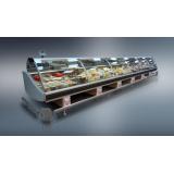 Холодильная витрина Диона ВН-21 375 (на тумбах из нерж. стали)
