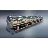 Холодильная витрина Диона ВН-21 250 (на тумбах из нерж. стали)