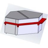 Расчетный стол для витрин Титаниум ВС-5-УН (угол наружный)