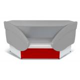 Прилавок Илеть УВ расчетно-кассовый неохлаждаемый (красный)