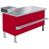 Прилавок холодильный среднетемпературный «Мясной» ПХС-1,25/0,85 (под выносное холодоснабжение с креплением для перекладины)
