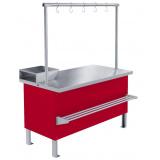 Прилавок холодильный среднетемпературный «Мясной» ПХС-1,00/0,85 (встроенное холодоснабжение с креплением для перекладины)