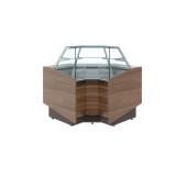 Кондитерская нейтральная витрина КС80 N-6 (Borneo) внутренний угол 90°