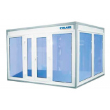 Камера холодильная для цветов Polair КХН-6.61 (1960х1960х2200) (Стекл. блок с одностворчатой дверью по стороне 1960)