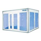 Камера холодильная для цветов Polair КХН-2.94 (1360х1360х2200) (Стекл. блок с двухстворчатой дверью по стороне 1360)