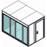 Камера холодильная для цветов Polair КХН-11.75 (2560х2560х2200) (Стекл. блок по стороне 2560, дверь унив. по смежной стороне)