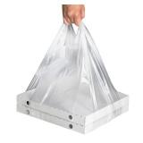 """Пакет """"майка"""" ПНД 32+24х60 прозрачный 14 мкм под коробку д/пиццы (100 шт.)"""