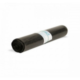 Пакет мусорный 120л ПВД 50мкм черный (10 шт/рул)