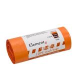 Пакет мусорный 120л ПВД оранжевый (10шт/рул) Elementz