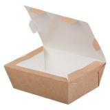 Контейнер бумажный (ланч-бокс) ECO LUNCH 600 мл 150х115х50 мм, крафт (500 шт.)