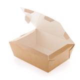 Контейнер бумажный (ланч-бокс) CRAFTBOX 600 мл 150х115х50 мм, крафт (350 шт.)