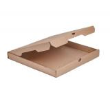 Коробка для пиццы 330х330х40мм гофрокартон крафт бурый (50 шт.)