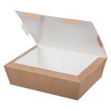 Контейнер бумажный (ланч-бокс) ECO LUNCH 1000 мл 190х150х50 мм, крафт (200 шт.)