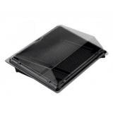 Контейнер PS под суши ПК-0035С 3-х секц. черный (дно) (500 шт.)