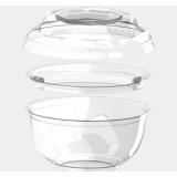 Крышка для креманки прозрачная d-110мм, 220 мл БОПС (1000 шт.)