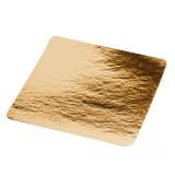 Подложка картонная квадратн. 210х210мм золото (50 шт.)