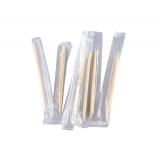 Зубочистки в индивидуальной прозрачной полиэтиленовой упаковке БАМБУК 1000шт/упак