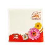 Салфетки бумажные 1сл 24х24 100л/упак Семья и комфорт белые