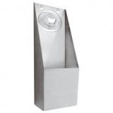 Открыватель д/пивн.бутылок настенный, сталь нерж.,H=300,L=105,B=75мм, металлич.