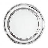 Поднос круглый;  сталь нерж.;  D=60,H=1см;  металлич.