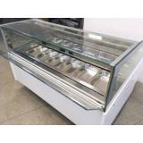Витрина под весовое мороженое «САБРИНА» 16 гастроемкостей
