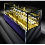 Кондитерская витрина Criocabin ELISIR EL200 2500 (встроенный агрегат, золотистая выкладка)