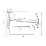 Витрина холодильная AURORA 125 вентилируемая SELF