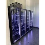 Холодильная камера на 4 стеклянных двери КОЛОВРАТ 4